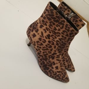 Eloquii Leopard Print Abba Ankle Booties 8W